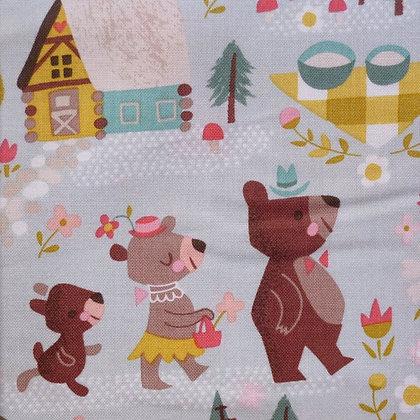 Fabric :: Goldilocks :: Teal The Three Bears