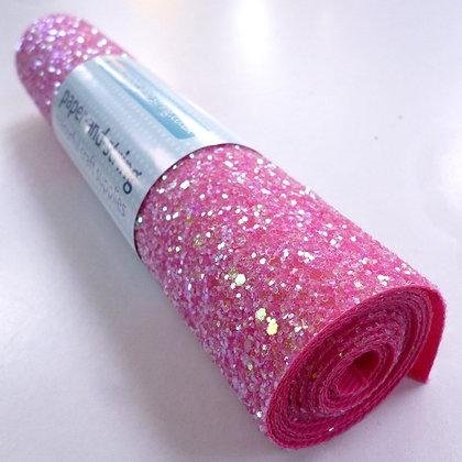 Chunky Glitter mini roll :: Raspberry Sorbet