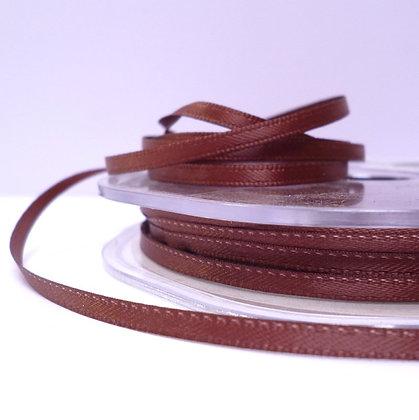 Chocolate :: 3mm Mini Satin Ribbon :: 5m