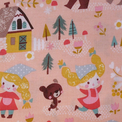Fabric :: Goldilocks :: Coral The Three Bears