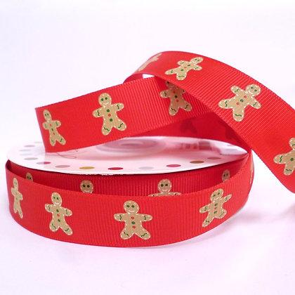 Christmas Grosgrain Ribbon :: Gingerbread Red