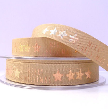 Foiled Merry Christmas Ribbon :: Rose Gold
