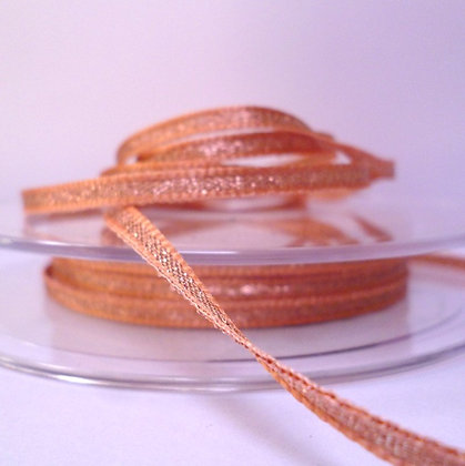 Lame Ribbon :: 3mm Rose Gold