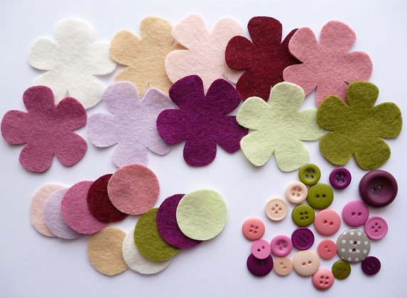 Felt Flower Kit :: Muted