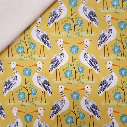 Fabric Felt :: Rivelin Valley :: Heron on Natural