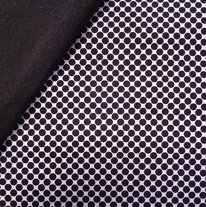 Fabric Felt :: Little Super Hero :: Black Dots on Black
