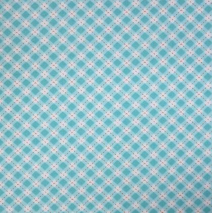 Fabric :: Diagonal Checks :: Turquoise