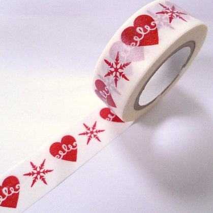 Washi Tape roll :: Snowflake & Heart