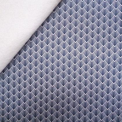 Fabric Felt :: Golden Days :: Navy Feather Chevron on Natural