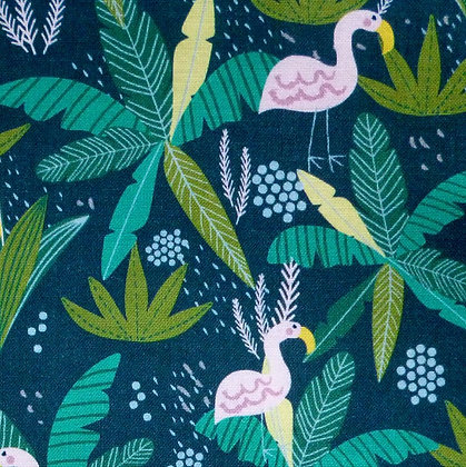 Fabric :: Junglemania :: Flamingo