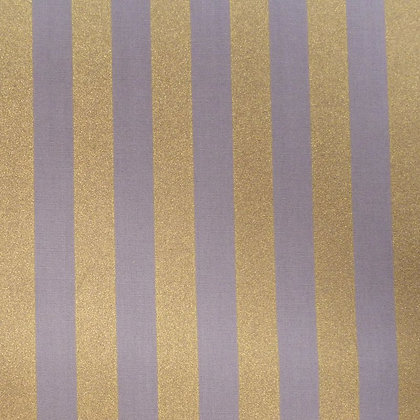 Fabric :: Wide Gold Stripes :: Grey