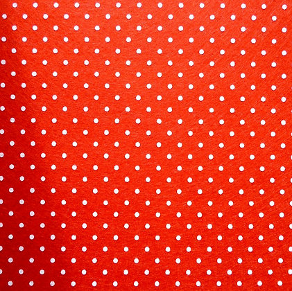 Polka Dot Felt Square :: RED