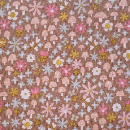 Fabric :: Goldilocks :: Brown Toadstools