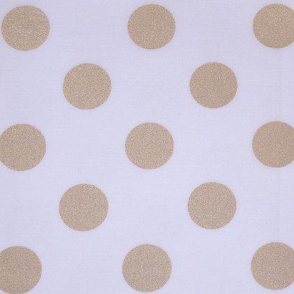 Fabric :: Metallic :: Gold Quarter Dot
