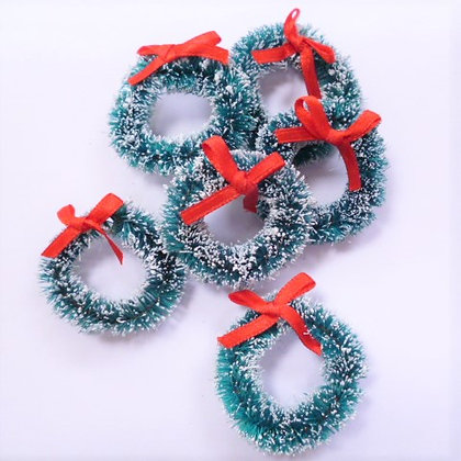 Mini Wreaths :: Frosted with Snow