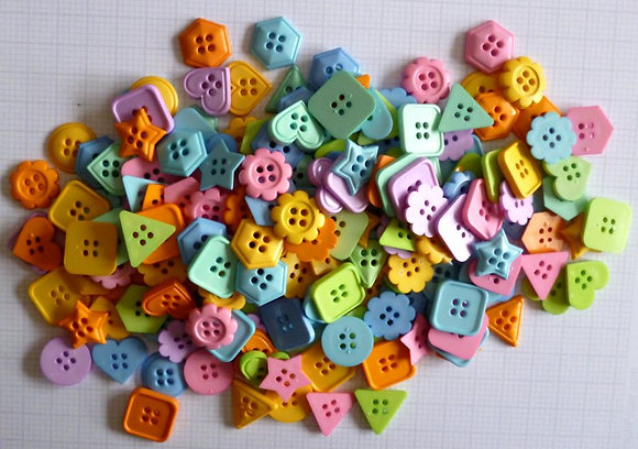 Buttons By Weight :: Geometrics :: 50g bag
