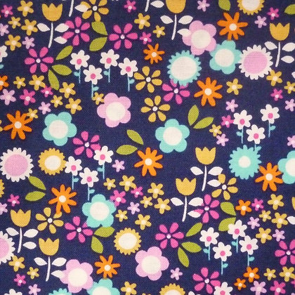 Fabric :: Flower Drift :: Navy Flowers