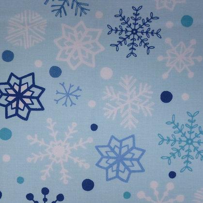 Fabric :: Snow Happy :: Snowflake Light Blue