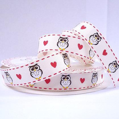 Bertie Bows Ribbon :: Owl & Hearts