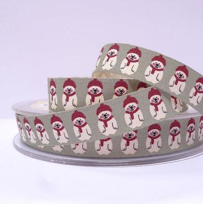Cotton Christmas Ribbon :: Little Polar Bears
