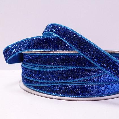 10mm LUXURY Glitter Velvet Ribbon :: Royal Blue