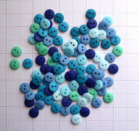 Teeny Tiny Buttons Mix Pack  :: BLUES