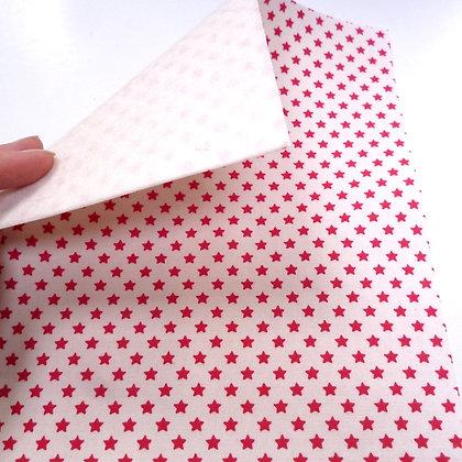 Fabric Felt :: Tilda Mini Red Stars on White