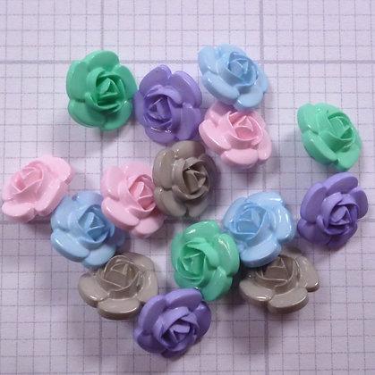 3d rose button pack :: pastel