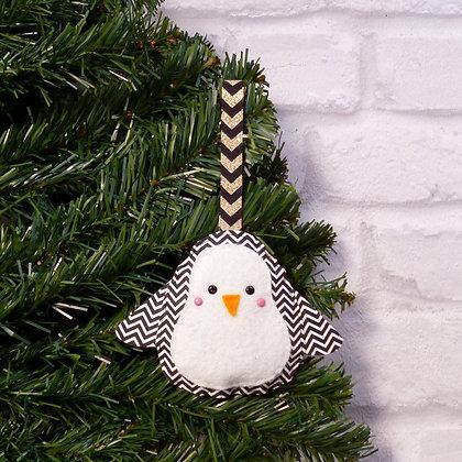 Chevron Penguin (Traditional) Christmas Decoration Kit