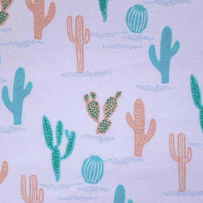 Fabric :: Wide Tropical :: Cactus on White