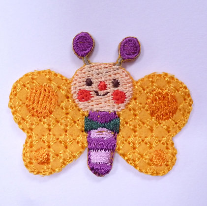 Embroidered Motif :: Bowtie Butterfly Yellow