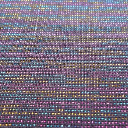 Fabric :: Essex Yarn Dyed Metallic :: Disco Black