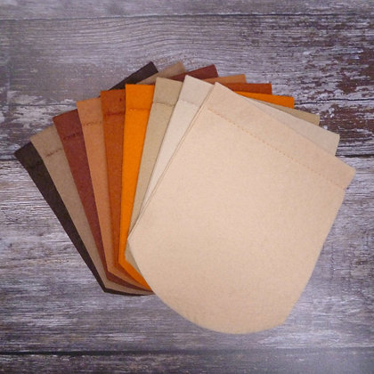 Pick Your Own Felt Flag - Curved or Pointed - Browns