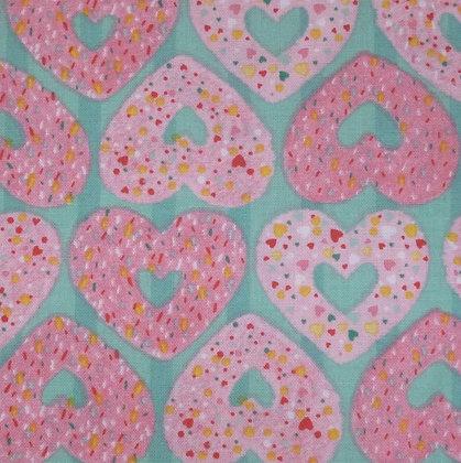 Fabric :: Summerlicious :: Heart Doughnuts