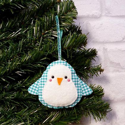 Gingham Penguin (Bright) Christmas Decoration Kit