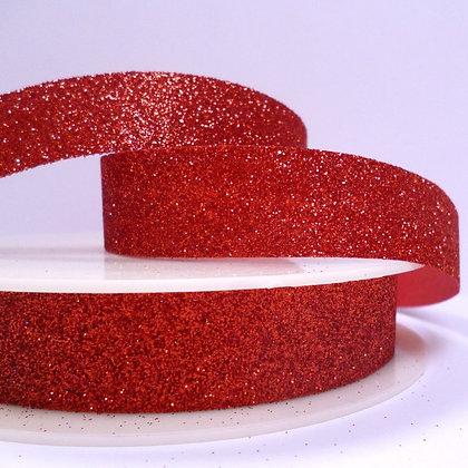 Fine Glitter Ribbon :: Red