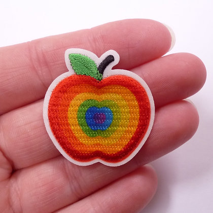 Embroidered Motif :: Rainbow Apple