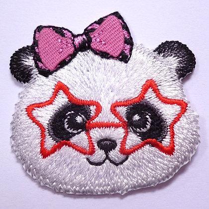 Embroidered Motif :: Cute Glasses :: Panda