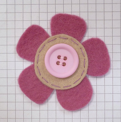 Rose :: Med Flower :: Handmade Embellishment