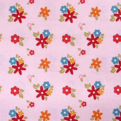 Fabric :: Fine & Dandy :: Pink Flowers