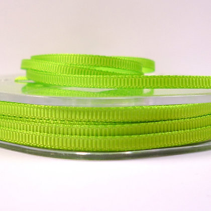 3mm Mini Grosgrain Ribbon (5 metres) :: Lime