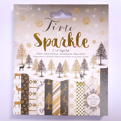 """6"""" paper pad :: time to sparkle"""
