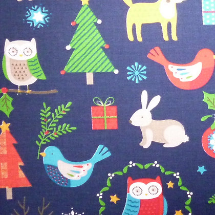 Fabric :: Wide :: Christmas On Navy