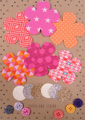 Fabric Felt Hand Cut Flowers Kit :: Pinks
