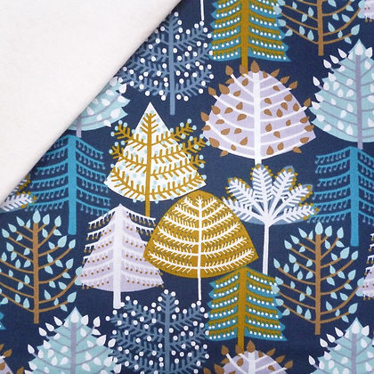 Fabric Felt :: Snow Forest :: Woodland on Natural