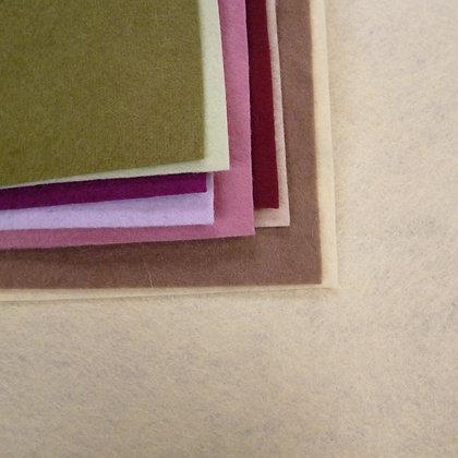 MUTED II  Premium Wool Felt Colour Pack