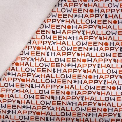 Fabric Felt :: Cats, Bats & Jacks :: Happy Halloween on Natural