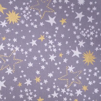 Fabric :: Starbrite Nightlight :: Pewter & Stars