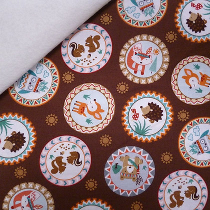 Fabric Felt :: Camp-a-long Critters :: Critter Patches on Natural