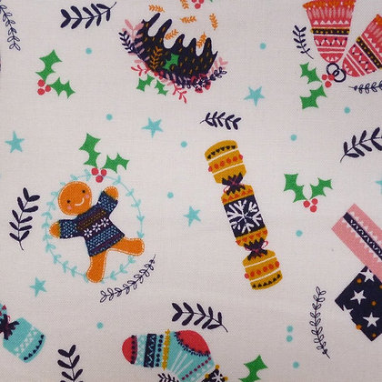 Fabric :: Merry Little Christmas :: Crackers & Gingerbread
